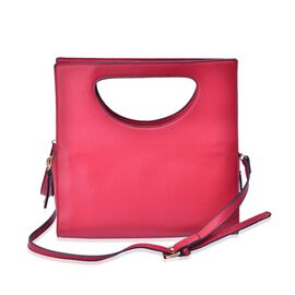 Red Colour Tote Bag with Adjustable Shoulder Strap (Size 31x18x10 Cm)
