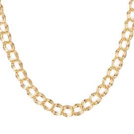 JCK Vegas Collection ILIANA 18K Y Gold Double Curb Necklace (Size 18), Gold wt 13.58 Gms.