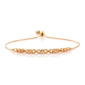 Citrine (Ovl) Adjustable Bracelet (Size 6.5 To 8) in 14K Gold Overlay Sterling Silver 0.750 Ct.