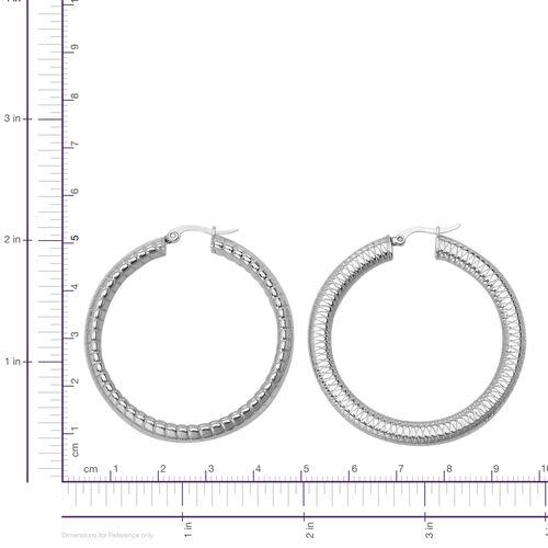 Set of 2 - Hoop Earrings in Stainless Steel