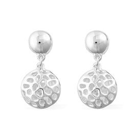 RACHEL GALLEY Sterling Silver Memento Disc Earrings (with Push Back), Silver wt 4.38 Gms.
