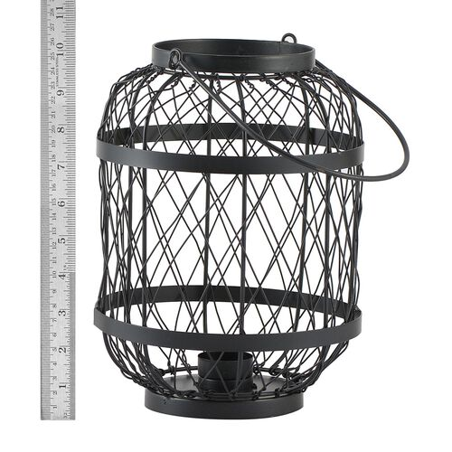 Home Decor - Handicraft Lantern Made of Black Wire