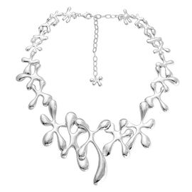 LucyQ Splat Necklace (Size 20 with Extender) in Rhodium Plated Sterling Silver 80.67 Gms.
