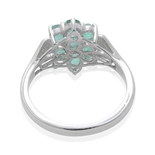 Kagem Zambian Emerald (Ovl) Ring in Platinum Overlay Sterling Silver  0.940 Ct.