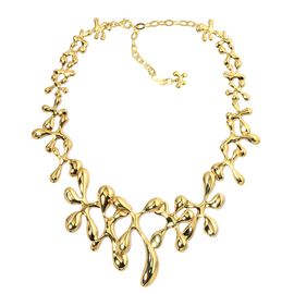 LucyQ Splat Necklace (Size 16 with 3 inch Extender) in Yellow Gold Overlay Sterling Silver 79.72 Gms.