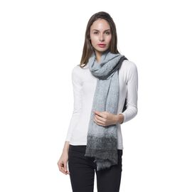 Dark Grey and Light Grey Colour Digital Scarf (Size 180x85 Cm)