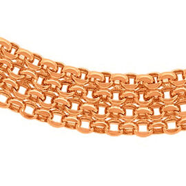 Close Out Deal 9K Rose Gold Bismark Necklace (Size 17), Gold Wt 11.30 Gms.