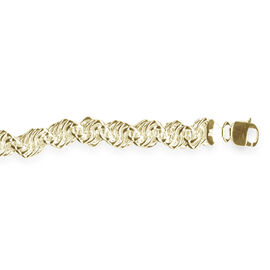 L Italia Collection 14K Gold Overlay Sterling Silver Twisted Chain (Size 30), Silver wt 54.69 Gms.