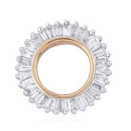 ILIANA 18K Y Gold IGI Certified Diamond (Bgt) (G/H and SI) Circle Pendant 0.500 Ct.