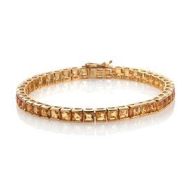 Citrine (Sqr) Bracelet (Size 7.5) in 14K Gold Overlay Sterling Silver 14.000 Ct.