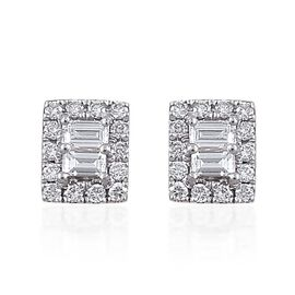 ILIANA 18K Yellow Gold IGI Certified Diamond (Bgt) (SI/G-H) Stud Earrings (with Screw Back) 0.500 Ct.