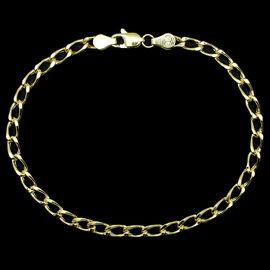 Close Out Deal 9K Y Gold Curb Bracelet (Size 7.5) 2.64 Grms.