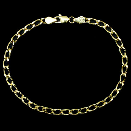 Close Out Deal 9K Y Gold Curb Bracelet (Size 7.5) 2.64 Grms.