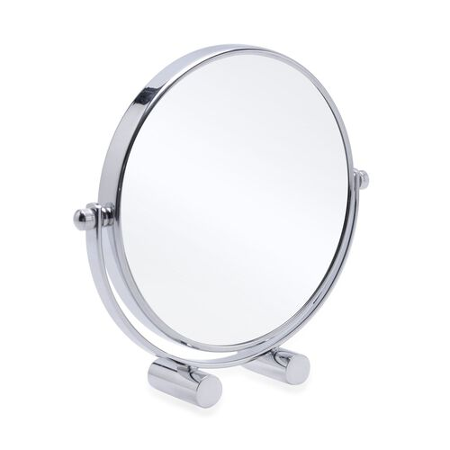 (Option 1) 360 degree, double sided high quality compact design Mirror (Size 16.5x15 Cm)- 3 x mag.