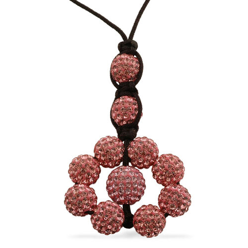 Pink Austrian Crystal Tranquility Necklace (Adjustable)