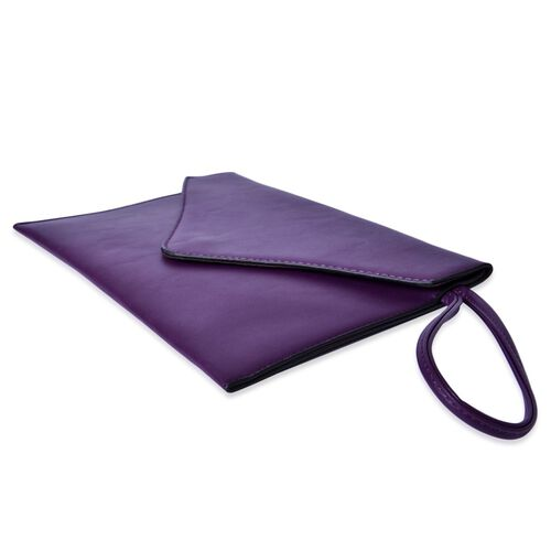 New Season YUAN COLLECTION Deep Purple Envelope Clutch (Size 25.5x17 Cm)