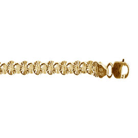 L Italia Collection 14K Gold Overlay Sterling Silver Bracelet (Size 7.5), Silver wt 5.50 Gms.