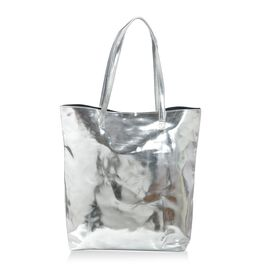 Silver Laminated Fancy Ladies Tote Bag