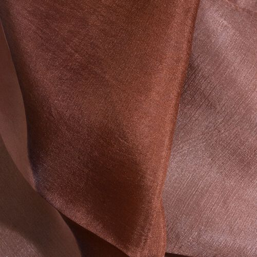 100% Mulberry Silk Brown and Multi Colour Abstract Pattern Pareo (Size 180x100 Cm)
