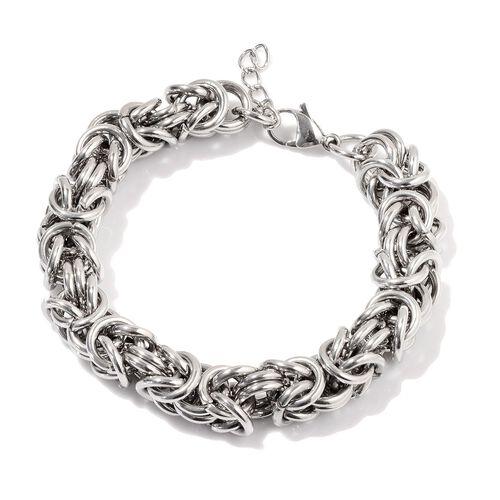 Stainless Steel Byzantine Bracelet (Size 8)