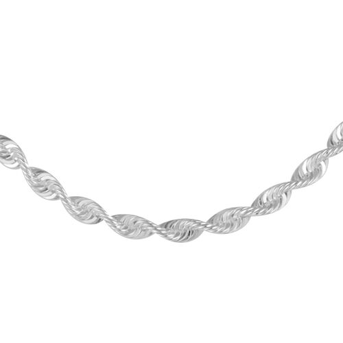 Close Out Deal Sterling Silver Rope Chain (Size 22), Silver wt 8.40 Gms.