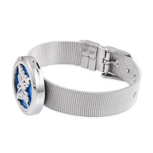 Butterfly Design Watch Look Bracelet (Size 5.5 to 7.5) in Stainless Steel