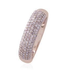 9K R Gold Natural Pink Diamond (Rnd) (I3/J-I) Ring 0.500 Ct.