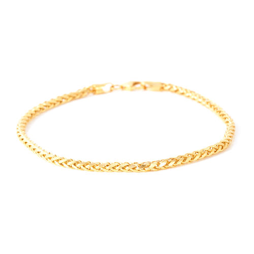 Limited Edition- JCK Vegas Collection 22K Y Gold Diamond Cut Spiga Bracelet (Size 7.75), Gold wt. 4.00 Gms.