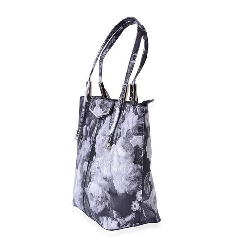 Chelsea Floral Pattern Tote Bag With Adjustable Shoulder Strap  (Size 39x29x32x15 Cm)