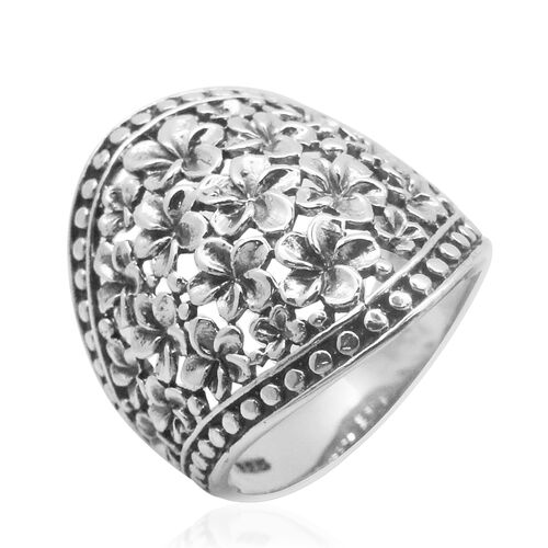 Royal Bali Collection Sterling Silver Floral Ring, Silver wt 7.00 Gms.