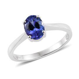 RHAPSODY 950 Platinum 1.25 Carat AAAA Tanzanite Solitaire Ring