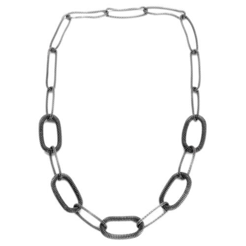 Oval Link Necklace (Size 32) in Black Tone