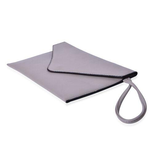 New Season YUAN COLLECTION Pale Grey Envelope Clutch / Travel Pouch(Size 25.5x17 Cm)