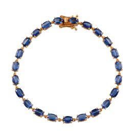 Himalayan Kyanite (Ovl) Bracelet in 14K Gold Overlay Sterling Silver (Size 7.5) 13.500 Ct.
