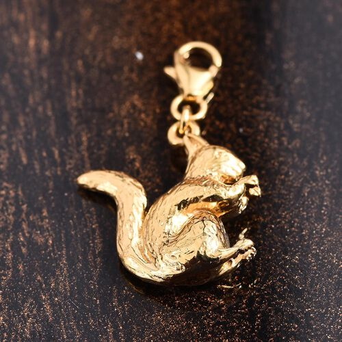 Squirrel Silver Charm in Gold Overlay with Clasp 4.82 Gms.
