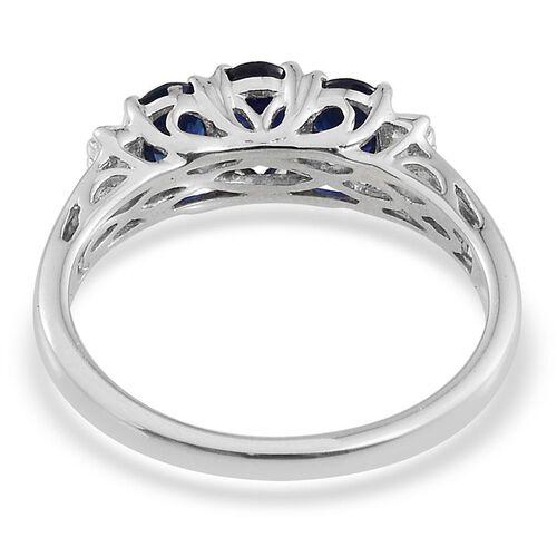 9K W Gold Kanchanaburi Blue Sapphire (Ovl 1.33 Ct), Diamond Ring 1.400 Ct.