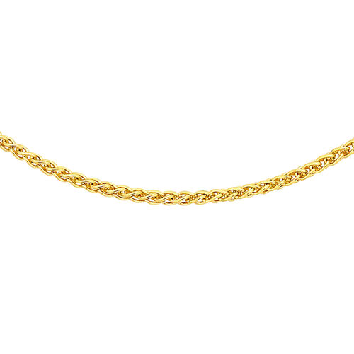 Close Out Deal 9K Yellow Gold Spiga Chain (Size 20)