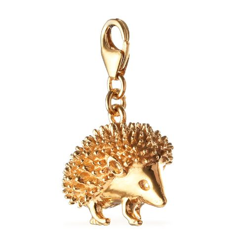 Hedgehog Charm in 14K Gold Overlay Sterling Silver, Silver wt 7.31 Gms.
