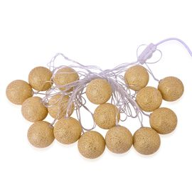 Golden Colour LED Balls Light String (Size 4 meters)