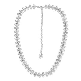 LucyQ Mini Splash Necklace (Size 20) in Sterling Silver 28.48 Gms.