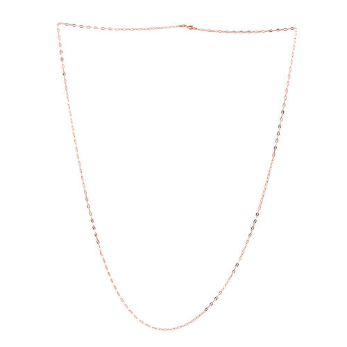 Sterling Silver Diamond Cut Oval Link Chain (Size 30)