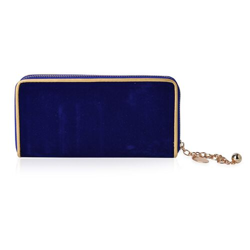 Royal Blue Colour Long Size Wallet (Size 19.5x9.5x3 Cm)