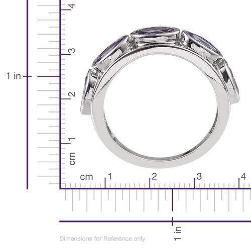9K W Gold Tanzanite (Ovl) 5 Stone Ring 2.500 Ct.