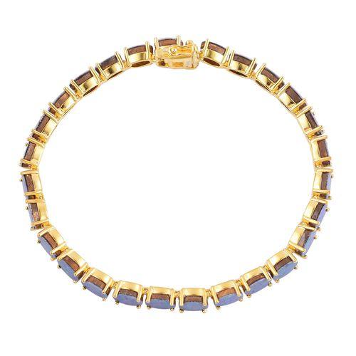 Australian Boulder Opal (Ovl) Bracelet (Size 7.5) in Yellow Gold Overlay Sterling Silver 16.500 Ct.