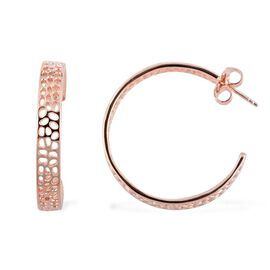 RACHEL GALLEY Rose Gold Overlay Sterling Silver Enkai Sun Earrings (with Push Back), Silver wt 11.64 Gms.