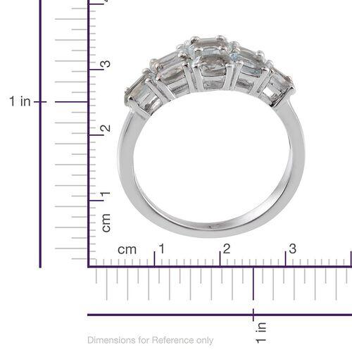 Espirito Santo Aquamarine (Ovl) Ring in Platinum Overlay Sterling Silver 1.750 Ct.