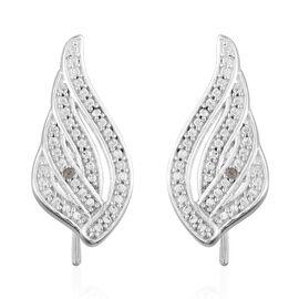 Diamond (Rnd) Climber Earrings in Sterling Silver