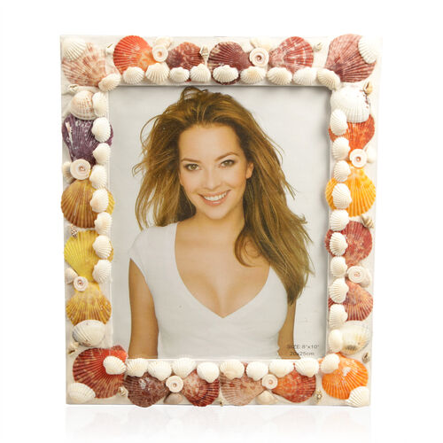 Multi Colour Shell Photo Frame (Size 8x10 inch) 125.000 Ct.
