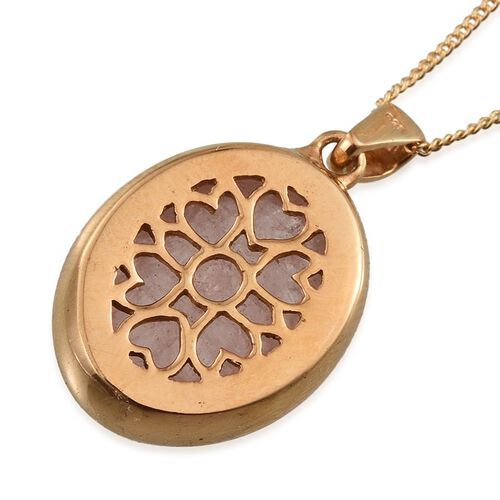 Marropino Morganite (Ovl) Solitaire Pendant With Chain in 14K Gold Overlay Sterling Silver 9.000 Ct.