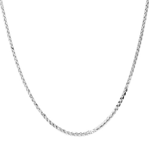 Royal Bali Collection 9K W Gold Hand Made Diamond Cut Spiga Necklace (Size 20), Gold wt 4.00 Gms.
